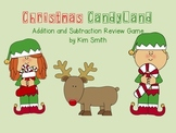 Christmas CandyLand Addition and Subtraction Game