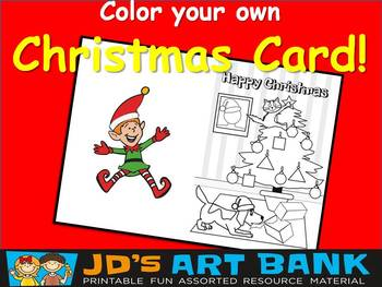 Christmas Card Color Your Own!