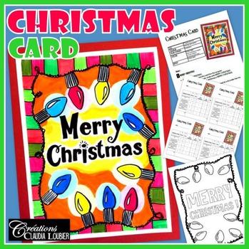 Christmas Card: Art lesson for kids.