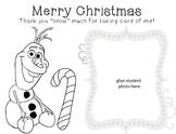 Christmas Card Coloring Sheet