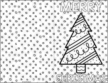 Christmas Cards to Color | Christmas Card Craft