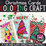 Christmas Cards to Color | Christmas Card Craft | Holiday Cards to Color