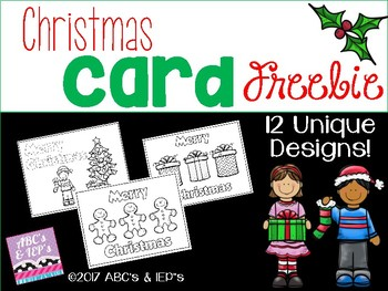 Christmas Card FREEBIE!