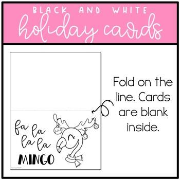 Christmas Card FREEBIE: Flamingo Theme