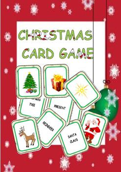 christmas card game by eve25 teachers pay teachers