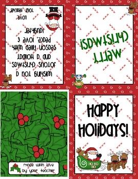 Christmas Cards For Teachers.Christmas Card For Students
