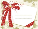 Christmas Card with Red Bow, Commercial Use Available