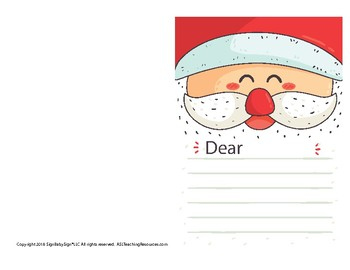 """Christmas Card with Sign Language """"Dear..."""""""