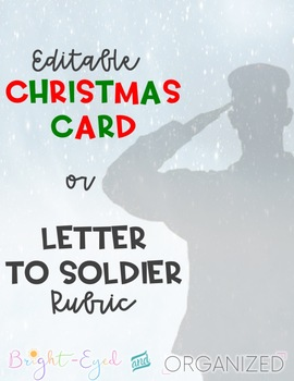 Christmas Card OR Letter to Soldier Writing Rubric {Editable}