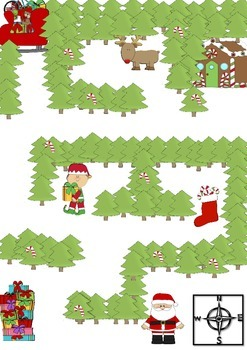 Christmas Cardinal Direction Activity