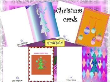 Christmas Activities  - Thank You Cards - Clipart - 11 dif