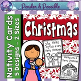 Christmas Cards ~ 2 sizes ~ Bible Theme