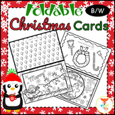 Christmas Cards Foldable Craft and Coloring Printable