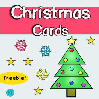 Christmas Cards For Teachers.Christmas Cards Freebie