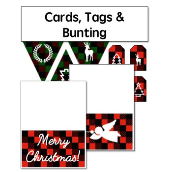 Christmas Cards, Gift Tags, Bunting