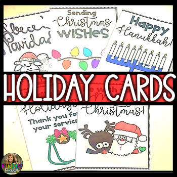 Christmas Cards, Hanukkah Cards & More - Printable Color and Write Cards