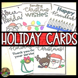 Christmas Cards, Hanukkah Cards & More - Printable Color a
