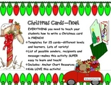 Christmas Cards--Noel!  Everything to make Christmas Cards in FRENCH! .