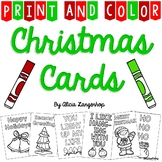 Christmas Cards - Print & Color