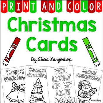 Printable Christmas Cards.Christmas Cards Print Color