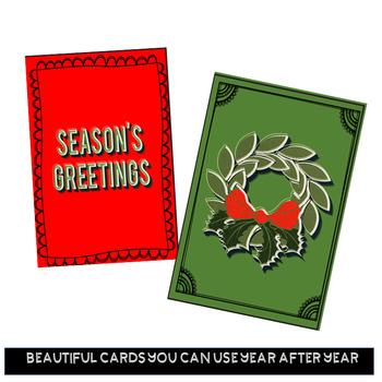 Christmas Cards Printable Colored Christmas Card Template