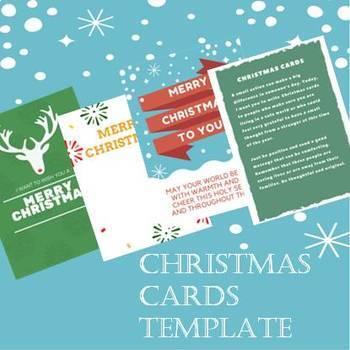 Christmas Cards For Teachers.Christmas Cards Template