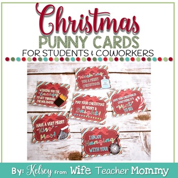 Christmas Cards Treats for students coworkers.
