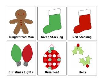 Christmas Cards: Vocabulary/Memory/Go Fish