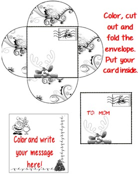 Christmas Cards and Envelopes Coloring Activity