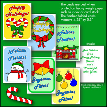 Multilingual Christmas Cards and Thank You Notes