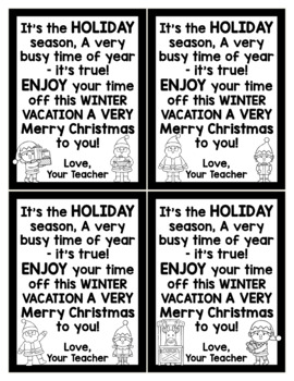 Christmas Cards for Students - Editable in color & black and white!