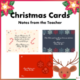 Christmas Cards for Students: Notes from the Teacher