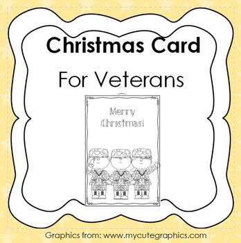 Christmas Cards for Veterans  - Thank our veterans at Christmas - Holiday card