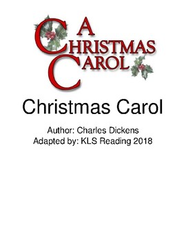 Christmas Carol - Adapted Book - Picture Supported Text - Summary PDF