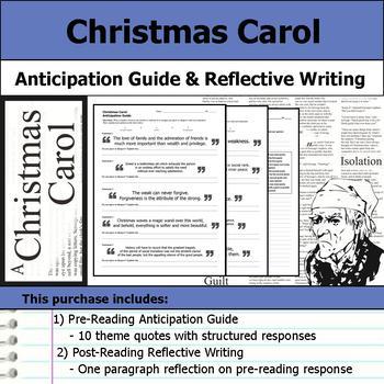 Christmas Carol - Anticipation Guide & Post Reading Reflection