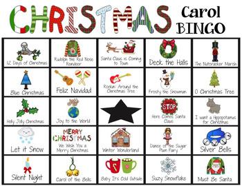 Christmas Carol Bingo