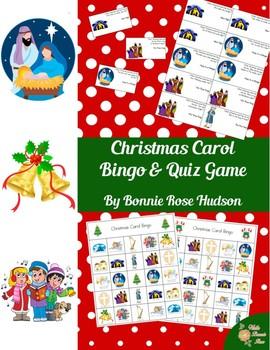 Christmas Carol Bingo & Quiz Game