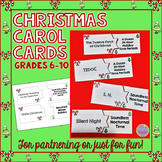 Christmas Carol Cards - for Partnering or Matching Game