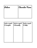 Christmas Carol Character Profile Assignment
