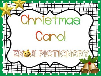 winter activity ~Christmas Carol Emoji Pictonary