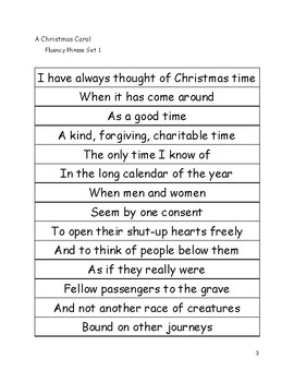 Christmas Carol: Excerpt from Stave 3 and Resources