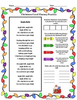 Christmas Carol Fluency Bundle