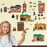 Christmas Carol Interactive Wall Play Set + Downloadable Story Audio File
