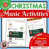 Christmas Music Activities