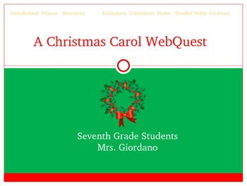 Christmas Carol POst WebQuest
