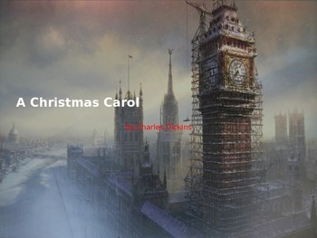 Christmas Carol - Power Point - Adapted book - picture supported text