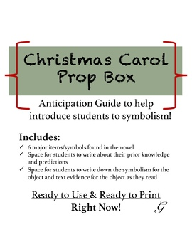 Christmas Carol Prop Box
