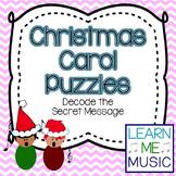 Christmas Carol Puzzles {Decode the Secret Message}