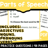 Parts of Speech Distance Learning | Assessments by Standar