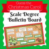 Christmas Carol Scale Degrees Bulletin Board Set